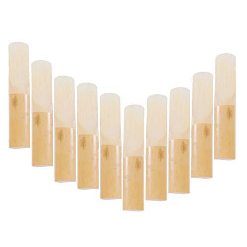 Flying Goose Klarinettenblätter Stärke 2,5, Traditionelle Naturrohrrohre für B-Klarinette, konsistent und einfach zu spielen, Schachtel mit 10 Stück mit einzelnem Kunststoffgehäuse