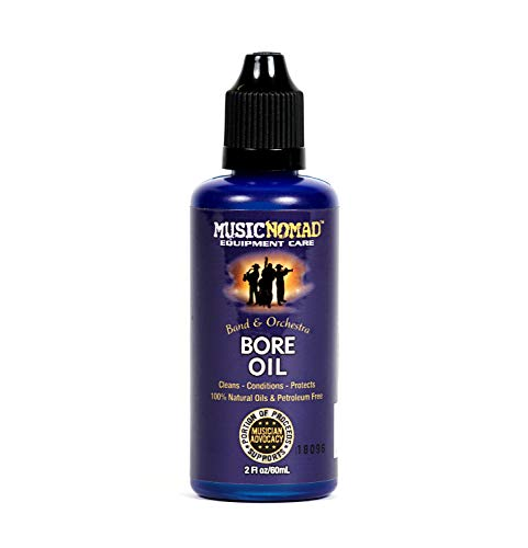 MusicNomad MN702 Bore Oil Cleaner & Conditioner For Wooden Bore Instruments, 2 oz