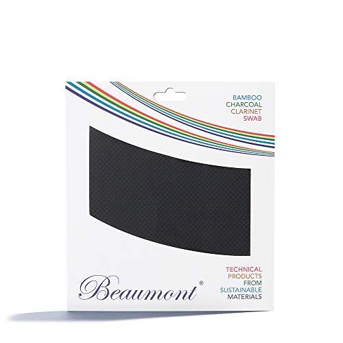 Beaumont Concert Noir Klarinetten-Durchziehwischer aus Bambuskohle, Klarinette in B - Putztuch Klarinette Wische für Klarinette, Reinigungstücher Klarinette Zubehör