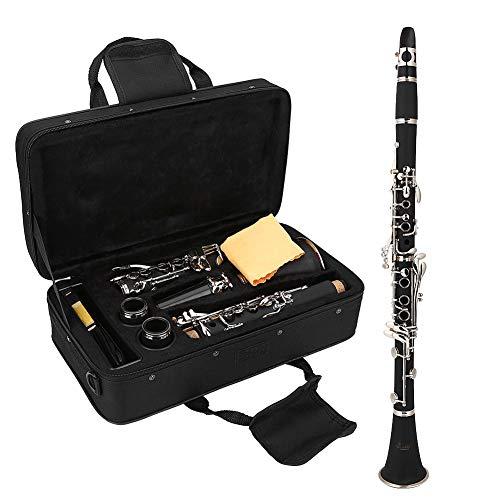 Klarinette Komplett, 17 Key Absteigend B Ton Klarinette mit Reeds und Reinigungstuch