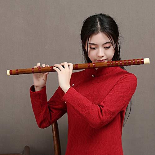 LYQZ Bittere Bambusflöte Professionelle Alte Show Flöte Senior Collection Chinesische Dizi Klarinette (C, D, E, F Melodie) (Color : C)