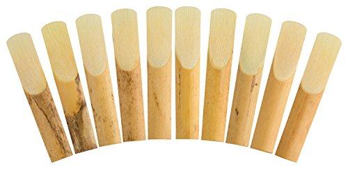 HEAVYTONE24 Klarinettenblätter Klarinettenblättchen Klarinette Blatt Ersatzblatt Blättchen 10 Stück Set Clarinet Reeds (3.0)