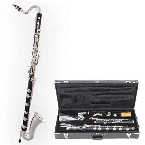 Tuyama® TBK-178 Bassklarinette (Böhm System) Tief C Bass Klarinette Clarinet Klarinete Do Clarinette Basse